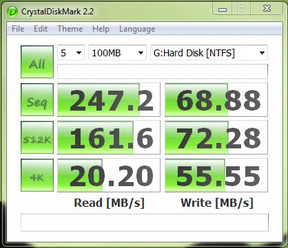 CrystalDiskMark Intel X18-M G1