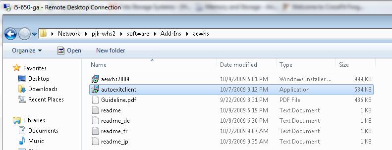 AutoExit Navigate to Client Installer