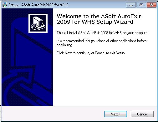 AutoExit Client Setup 1