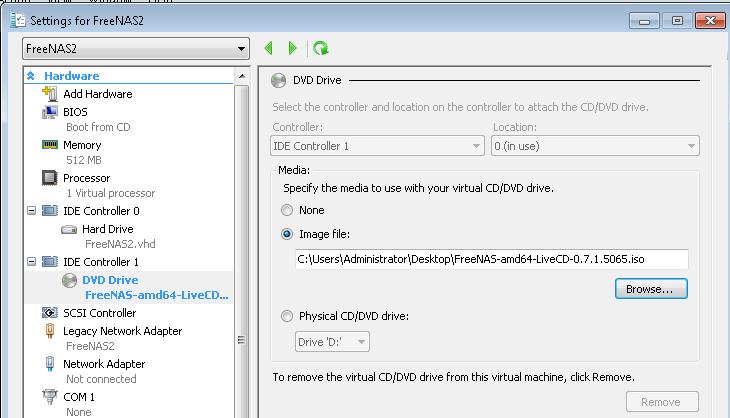 Add FreeNAS LiveCD OS Disk - ServeTheHome