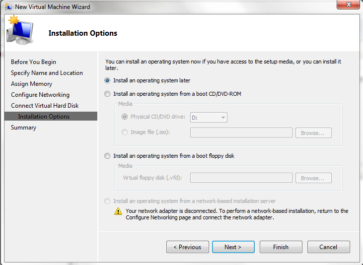 Hyper-V - Specify the Hyper-V VM's OS Source