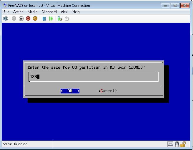 Install FreeNAS in Hyper-V: Part 2 Installing FreeNAS to a vhd