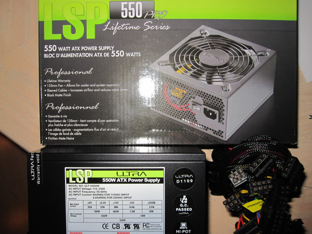 Ultra LSP550 550w Power Supply