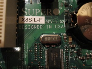 Supermicro X8SIL-F rev 1.02 that supports Intel Clarkdale CPUs