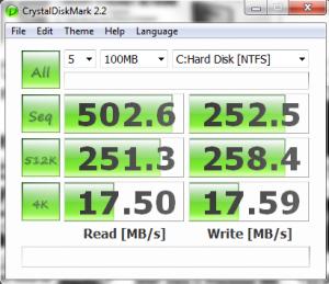 OCZ Agility 2 120GB CrystalDiskMark Benchmark Results