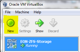 Create New VirtualBox Virtual Machine