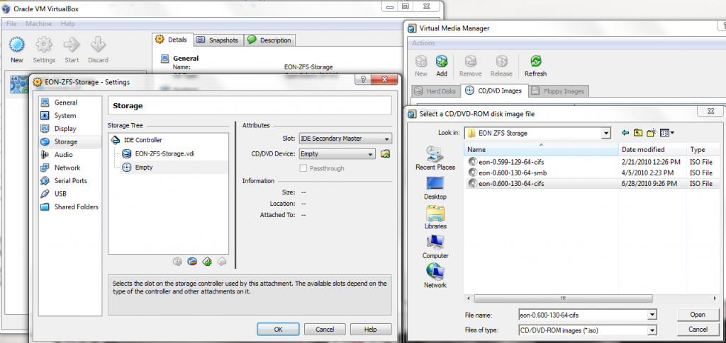 VirtualBox - Virtual Machine - Mount Installation CD