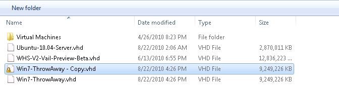 Windows 7 Throw Away VM Copy fully patched VHD