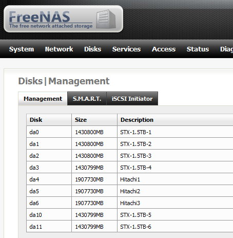 FreeNAS Intel SASUC8I with HP SAS Expander and 9 Disks
