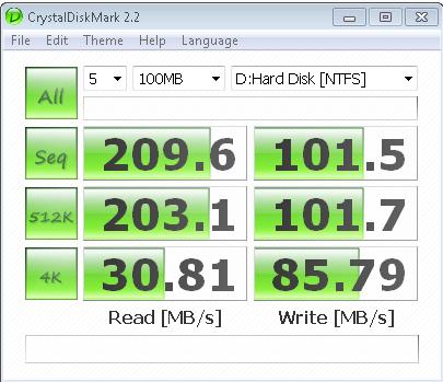 ADATA S599 64GB CrystalDiskMark