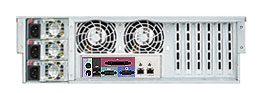 Supermicro SC933T-R760B rear view with triple redundant PSU