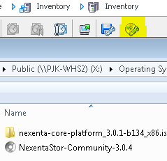 Mount NexentaStor ISO through vSphere