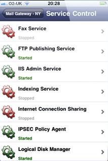 ServerControl Services View