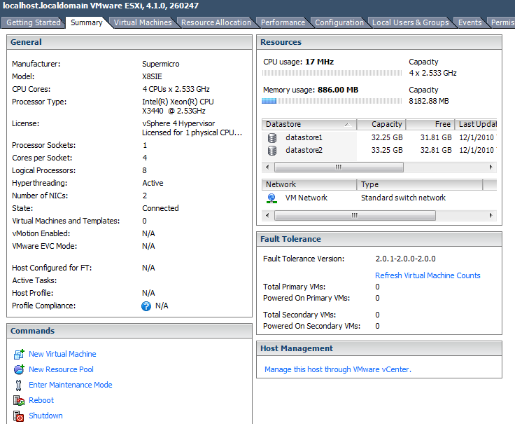 VMWare 8GB Memory usage