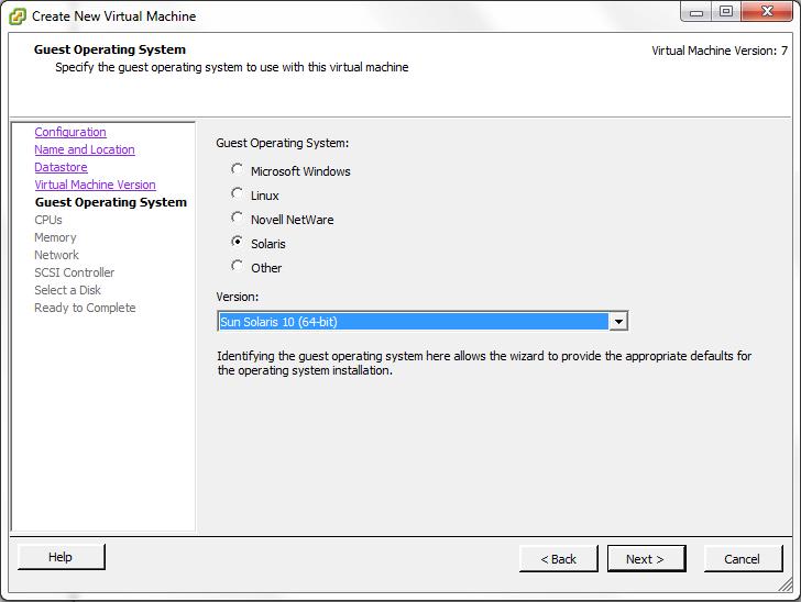 VMWare Solaris 10 64-Bit