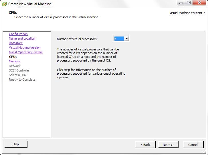 VMWare Virtual Processors