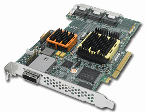 Adaptec 51245 with Expander Chip and Heatsink