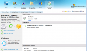 CloudBerry Backup Main Screen