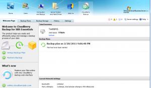 CloudBerry Backup Main Screen