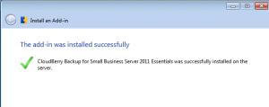 CloudBerry Installation Successful