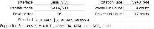 Hitachi 5K3000 2TB CrystalDiskInfo