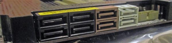 ASUS P67 Sabertooth SATA Ports and USB 3 Header