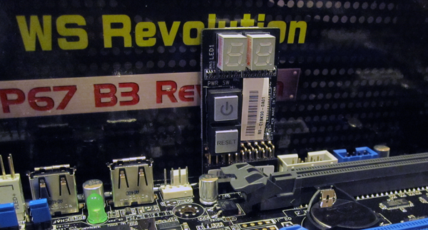 ASUS P8P67 WS Revolution Diagnostic Board