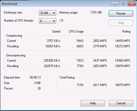 Intel Xeon E3-1230 7-Zip