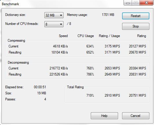 Intel Xeon E3-1280 7-Zip