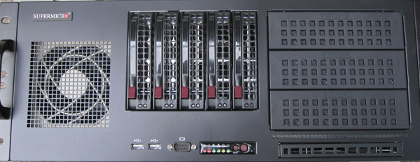 Supermicro SC842TQ-665B Front Chassis View