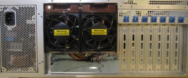Supermicro SC842TQ-665B Rear Chassis View