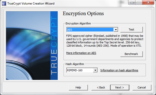 TrueCrypt select AES encryption for Westmere and Sandy Bridge parts