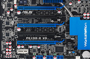 ASUS P6X58-E WS PCIe Slots