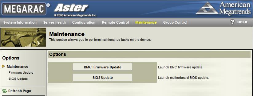 Tyan IPMI WebGUI Maintenance