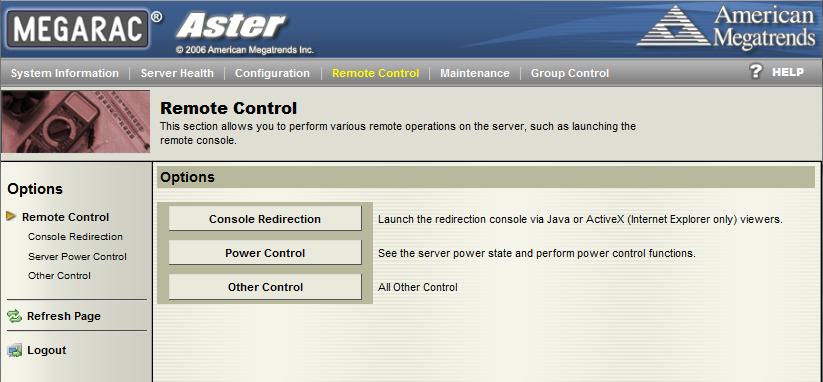 Tyan IPMI WebGUI Remote Control