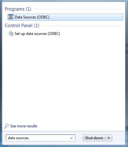Find ODBC Data Sources