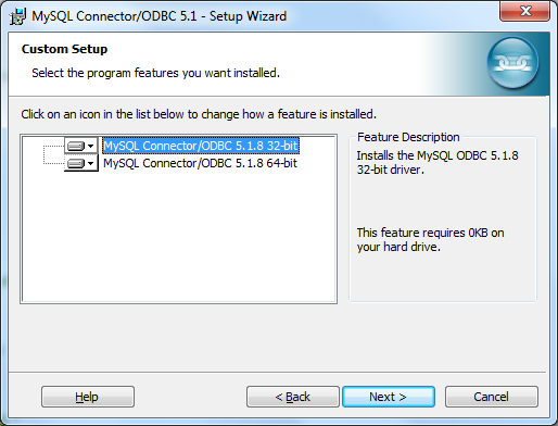 Install MySQL ODBC Connector