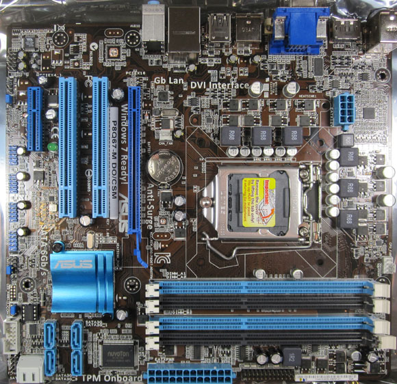 ASUS P8Q67-M Board Overview