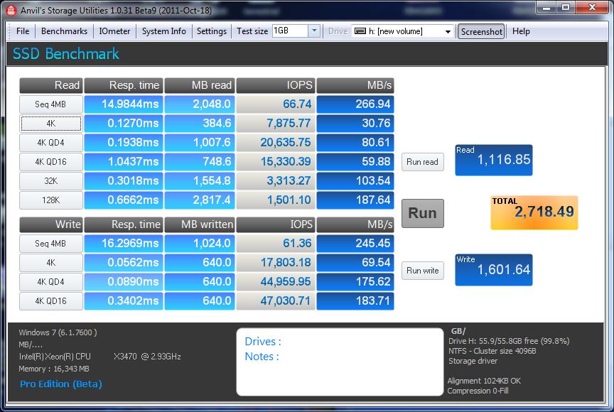 HDTach LSI 9420-8i RAID 0