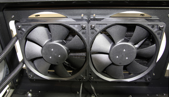 Corsair H100 Fans Installed in Carbide 500R