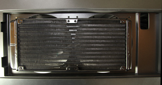Corsair H100 Radiator Installed in Carbide 500R