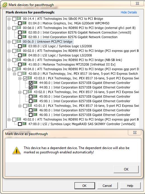 Dell Silicom PEG6I – VMWare ESXi 5 0 vSphere VT-d IOMMU Passthrough