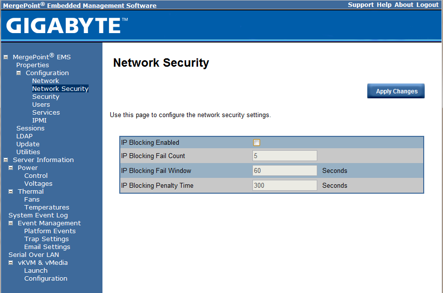 Gigabyte IPMI Management Network Security
