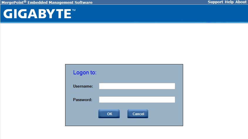 Gigabyte IPMI Management Login
