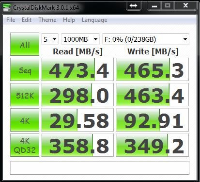OCZ Vertex 4 256GB 1.4fw CrystalDiskMark