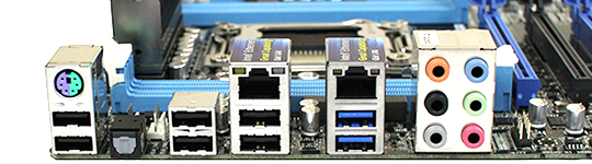 ASUS Z9PE-D8 WS Rear IO Ports