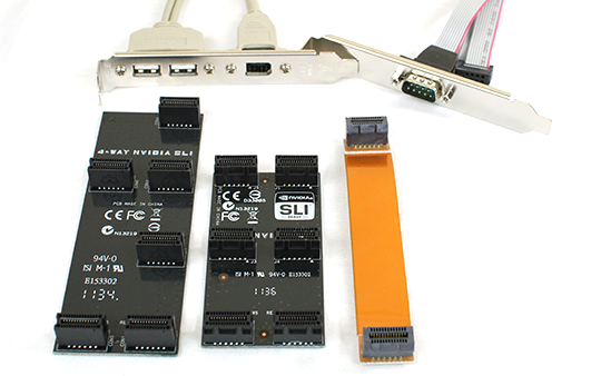 ASUS Z9PE-D8 WS SLI Bridges Serial and Firewire