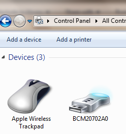 Apple Wireless Trackpad Installed