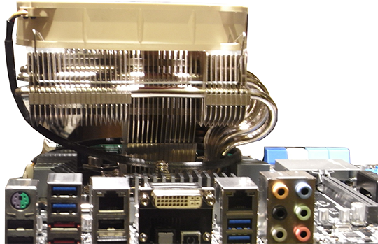 ASUS P8Z77 WS IO and Heatsink