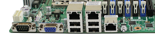 Gigabyte GA-7PESLX Rear IO and Intel Controllers